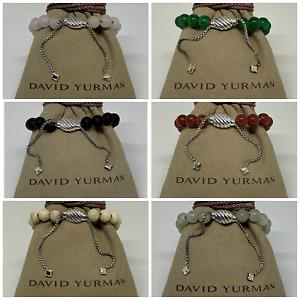 $425 David Yurman Sterling Silver 925 Spiritual Beads Bracelets Adjustable