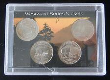 NICELY SLABBED WESTWARD SERIES NICKELS (2004P & 2005P) BRILLIANT UNCIRCULATED