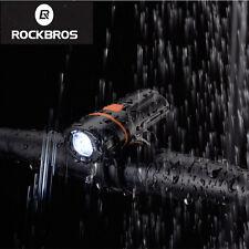 RockBros Rechargeable PC11 Headlight Lamp Flashlight Waterproof Bike Light Black