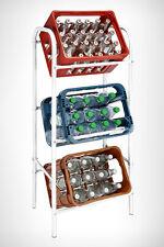 Kastenständer 3 Kisten weiß  Getränkekistenregal Kistenständer Regal Kistenregal