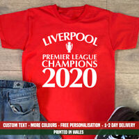 Liverpool League 2020 T-Shirt FC Football Premier Winners Top NEVER GIVE UP!