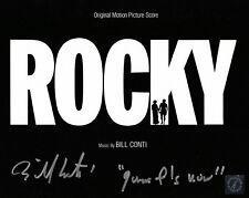 Bill Conti Autographed ROCKY Score 8x10 Photo ASI Proof
