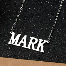 KPOP GOT7 Mark Name Letter Stainless Steel Pendant Necklace Friend Gift