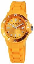 Madison Unisex Uhr Silcon New York Candy Time Orange U4167-22 Analog Quarz