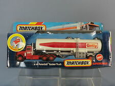 "MATCHBOX SUPERKINGS MODEL K-127   PETERBILT ""GETTY"" TANKER       VN MIB"
