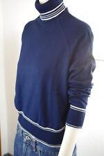 Damen Rollkragen Pullover Gr. 42 blau NOS 80er OVP True VINTAGE 80s dralon blue