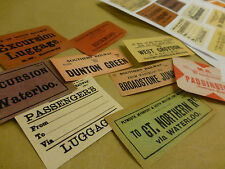 45 Reproduction Vintage Railway Luggage Labels - DIY Decorate Old Suitcase