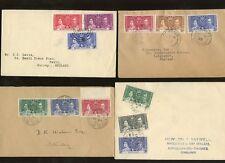 BRITISH COMMONWEALTH 1937 CORONATION 8 FDCs...10 SETS on 10 COVERS