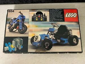 Lego 854 Technic Go Kart Vintage Set 1978 Box & Instructions