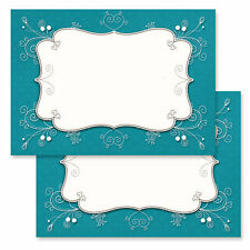 Blank Princess party invitations, wedding invitations - jade green - pk of 20