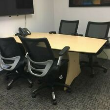 Hon Conference Room Table 6 X 3 Boat Shape Two Tone