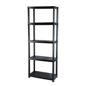 Heavy Duty 5 Tier Black Shelf Shelving Unit Rack Storage Display