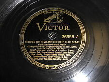 BOB ZURKE VICTOR 78 RPM RECORD 26355 BETWEEN THE DEVIL AND THE DEEP BLUE SEA