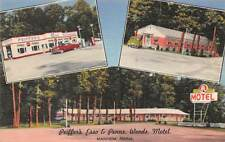 MANHEIM, PA, PFEIFFER'S ESSO GAS & PENNS WOODS MOTEL, LINEN ADV PC c 1950's