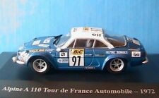 ALPINE A110 1600S #97 TDF AUTOMOBILE 1972 THERIER ROURE RENAULT TOUR DE FRANCE