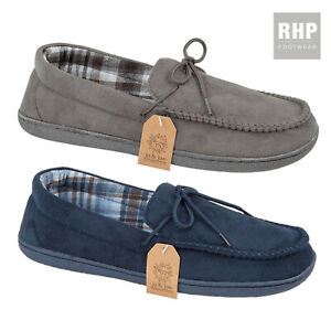 Mens Moccasin Slippers Comfy Warm Lining Indoor House Shoe Warm Slipper UK Size