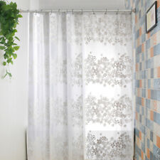 Waterproof Bath Curtains PEVA Thicker Mouldproof Bathroom Shower Curtain White