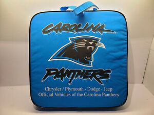 "New NFL Carolina Panthers Stadium Bleacher Seat Cushion 14"" Square Outdoor"