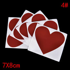 5x Postcard Coating Scratch Card Message Hidden Surprises Set Scratch Sticker 3c Red Love