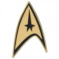 GOLD STAR TREK COMMAND BADGE LAPEL PIN CHARM LOGO GOLD BUTTON CLIP ON COSTUME