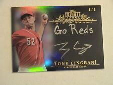 2013 Topps Tribute Tony Cingrani Cincinnati Reds Auto 1/1