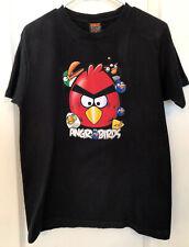 ANGRY BIRDS Graphic Men's Black T-Shirt Size Medium M