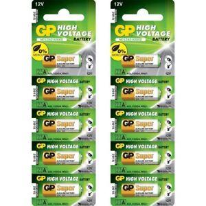 10 x GP A23 Battery 12Volt Alkaline 23A V23GA,MN21 Lighter, Door Chime Bell Push
