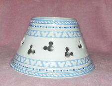 Disney Gourmet Large Jar Candle Shade Mickey Mouse Ears Blue White Porcelain