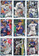 2014 Topps Update Los Angeles Dodgers Team Set 11 Different Cards w/RC, Puig