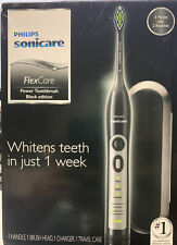 NEW PHILIPS SONICARE FLEXCARE POWER TOOTHBRUSH HX6911/79 BLACK EDITION