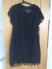 Marks & Spencer Ladies Dress Black Lacy Size 18 BNWT