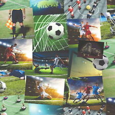 NOVELTY KIDS BOYS GIRLS SOCCER FOOTBALL HEAVYWEIGHT WALLPAPER FINE DECOR FD41915