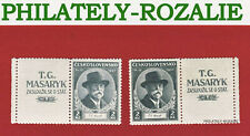 CZECHOSLOVAKIA STAMPS WITH TAB MNH 1937 Mi 380Zf TOMAS GARRIGUE MASARYK