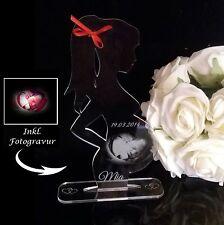 1 Aufsteller & Lasergravur indiviuell Schwangerschaft Schwanger mit Fotogravur
