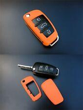 Für Audi Klapp Schlüssel Cover Key Cover Schlüssel Funk Fernbedienung Orange
