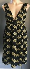 Pre-owned SEE BY CHLOE Black & Gold Embroidered Sleeveless Dress Size 42/AU10