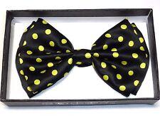 New Polka Dot Bow Tie Yellow and Black BowTie Ties Tuxedo