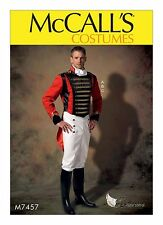MCCALLS SEWING PATTERN 7457 MENS BRITISH REDCOATS 18THc COSTUME SIZES S-XXL