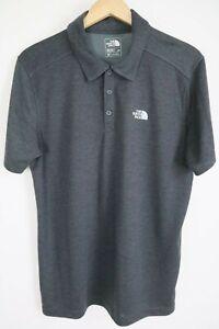 The North Face Mens sz Large FlashDry Black Short Sleeve Plaited Crag Polo Shirt