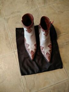 Donald Pliner western couture boots sz. 8 (oil skin calf leather boots)