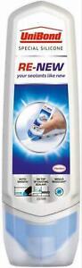 UniBond, White Silicone Sealant For Kitchen & Bathroom Sealant Renewal,100ml