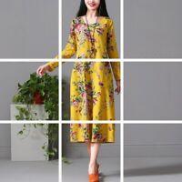 Long V Neck Loose Evening sundress Casual Dresses Floral Dress Maxi summer