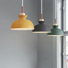 Wood Pendant Light Modern Ceiling Lights Room Lamp Kitchen Chandelier Lighting