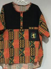 Mens Dashiki Clothing African Traditional Kente Ethnic Tunic With short Set