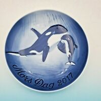 2017 B&G Bing & Grondahl Mother's Day Plate  Orca & Calf New in Box