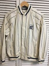 Vintage Ralph Lauren Polo 100% Cotton Pinstripe Baseball Jacket Women's Large