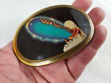 Vintage LED ZEPPELIN Brass Lacquer 1977 PACIFICA LA CAL 90245 Belt Buckle  NM