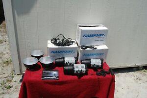 Flashpoint 320M 150 Watt AC/DC Monolight Strobe #FP-LF-320M [LOT OF 3]
