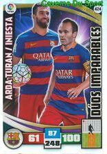 424 ARDA TURAN INIESTA ESPANA FC.BARCELONA DUOS CARD ADRENALYN LIGA 2016 PANINI