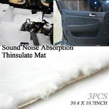 """Noise Protection Audio Sound Absorption Thinsulate Mat 39x20"""" for Universal Car"""